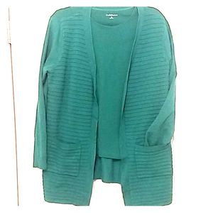 Christopher Banks open cardigan with pockets.